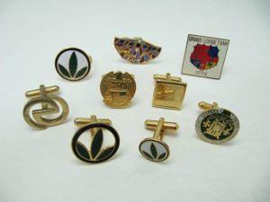 Copper casting cufflinks