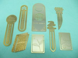 Brass  Etching thread empty   Gold-plated bookmark