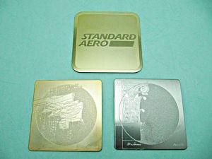 銅、鋁、白鐵蝕刻杯墊