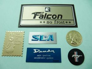 Aluminum Printing  convex trademark、Name-Plate 2