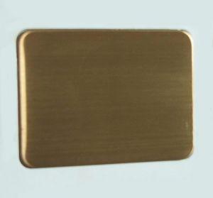 白鐵鍍紅銅色髮絲紋