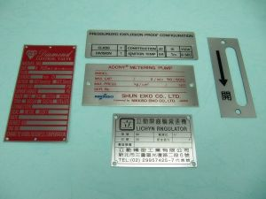 Stainless  Steel  etch  machinery  Name-Plate