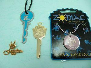 Necklace + decorative pieces