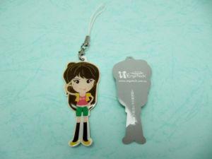 Plastic  Printing + Epoxy Mobile phone strap
