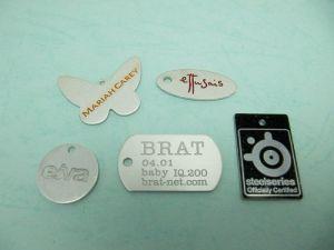 Aluminum  etch  tag  piece