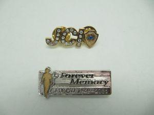 銅壓鑄鑲鑽証章