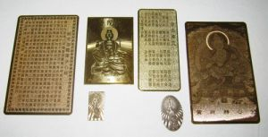 Brass  Etch  name-plate、card、Buddha  card